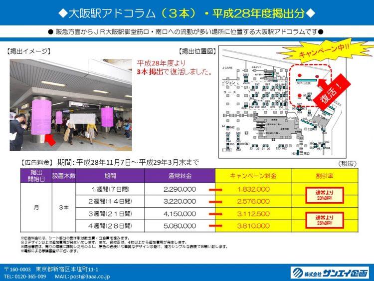 大阪駅アドコラムキャンペーン_GU営業用