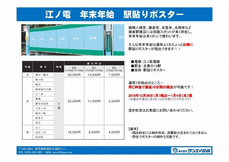 江ノ電駅貼り年末年始