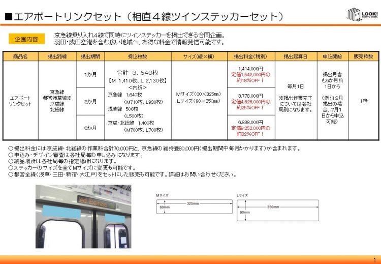 【京急】エアポートリンクセット(セールスシート)