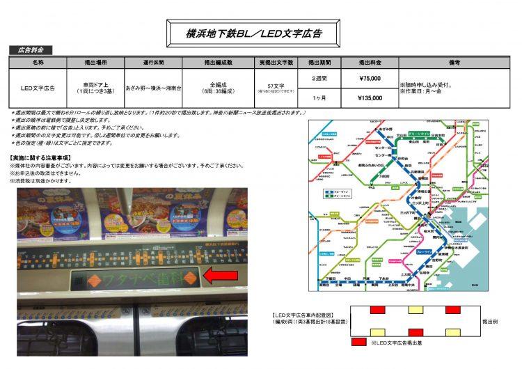 横浜地下鉄ブルーラインLED広告2017